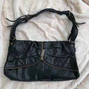 Kooba handbag. Black leather with bronze details